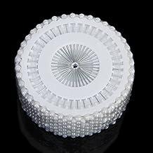 480x Ronda sintética Pearl alfileres con para costura Costura Craft Decoración de la boda --- Negro (blanco)