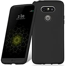 Cadorabo - Ultra Slim TPU Etui pour LG G5 Housse Gel (silicone) en Design 'AIR' - Coque Case Cover Bumper en NOIR