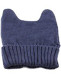 Damen Wintermütze Katzenohren Strickmütze Strick Damenmütze Hut Niedlich Katze-Ohr