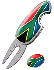 SOUTH AFRICA PITCHMASTER DIVOT TOOL, PITCHMARK REPAIRER BY ASBRI GOLF by Asbri