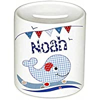 Spardose, Wal, mit Namen, für Kinder, Geschenk, Kinderspardose, Geschenk Taufe, Sparschwein, Geldgeschenke,