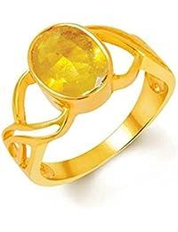 Pukhraj Ring 5.25 Ratti /4.8 Carat Natural Certified Yellow Sapphire Pukhraj Gemstone Panchdhatu Unisex Ring