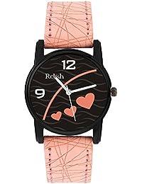 Relish Analog Black Dial Watches for Girls & Women RE-L085PB