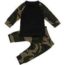 MIOIM® Cool Baby Niños Camuflaje T-shirt Tops Pantalones Largos Conjunto Chandal Traje