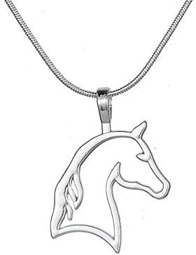 Cut Out Pferd Kopf Anhänger Halskette Best für Cowgirl Teen Mädchen Equestrian Geburtstag Geschenk Schmuck