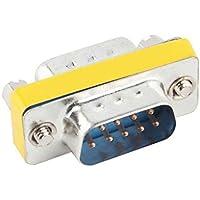 3 x 1,8 x 1,3 cm de 9 pines RS-232 DB9 macho a macho Cable Serial Género adaptador de acoplamiento del cambiador Regard