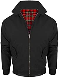 Vanilla Inc Vintage Harrington Girls Ladies Womens British Made Harrington Jacket Coat Bomber Classic 1970'S Vintage Retro Mod Skin Scooter Tartan Lining UK Size 6-14