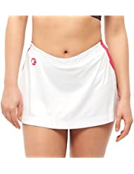 Tenn Ladies Unpadded Skorts - White/Pink - 18