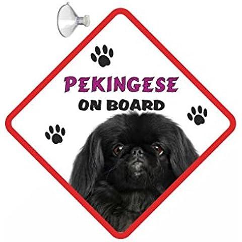 DOG Pekingese (nero), da appendere, per auto con ventosa, 186,