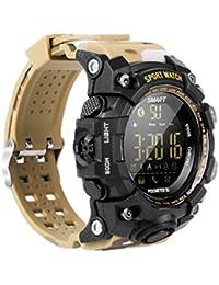 EX16S multifunción Resistente al Agua Bluetooth Reloj Inteligente Reloj de Pulsera para Hombres Remoto Apto para
