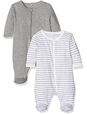 NAME IT Unisex Baby Schlafstrampler, 2er Pack