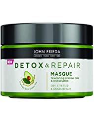 John Frieda Detox & Repair Masque for Dry, Stressed & Damaged Hair with Avocado Oil and Green Tea, 250 ml