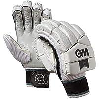 Gunn & Moore 505 - Guantes de bateo para niños, 505, Infantil, Color Blanco/Plateado/Negro, tamaño Small Junior RH