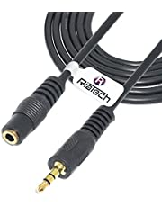 RiaTech Gold Plated 3.5mm Stereo Audio Male to Female Extension Cable (9 Feet)