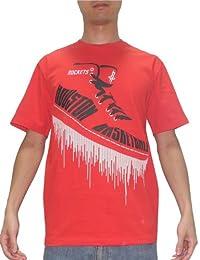 NBA Herren Houston Rockets Athletisch Rundhals Kurzarm T-Shirt