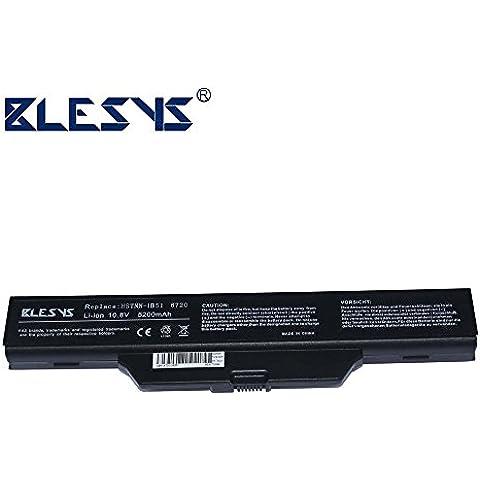 BLESYS - 5200mAh HP HSTNN-LB51 HSTNN-IB51 HSTNN-FB51 HSTNN-IB62 451085-121 GJ655AA HSTNN-IB52 451086-661 ordenador portátil del reemplazo de baterías se HP Compaq 615 batería, HP Compaq 6720s batería, Compaq 610 batería, HP 550 batería, HP 6720s batería, HP 6730s batería, HP Compaq 6820S batería