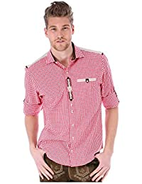 orbis Textil OS-Trachten Trachtenhemd Krempelarm Cyrill Rot 19dbc797ec