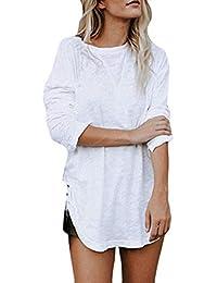 LILICAT Damen Oberteile Langarmshirt Basic T-shirt Herbst Winter Sweatshirt  Rundhals Tuniken Lange Ärmel Casual Bluse Mode Bluse T… 4ef6d7391b