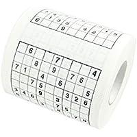 BESTOMZ Rollo de Papel Higiénico Sudoku Papel Higiénico Impreso Papel Higiénico Bromas Rollo