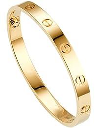 Chandrika Pearls Gems & Jewellers Golden Stainless Steel Unisex Bracelet