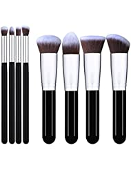 I-dragon 8pièces Pinceaux de maquillage Lot de brosse de maquillage cosmétique Fond de teint Mélange Blush Eyeliner visage Brosse à lèvres Poudre Brosse de Maquillage kit