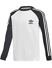 adidas California Long Sleeve – Camiseta, Niños, DM4452, Negro/Blanco, 164