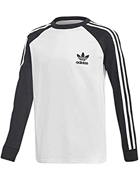 adidas California Long Sleeve–Camiseta, Niños, DM4452, Negro/Blanco, 152