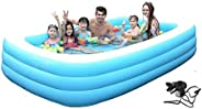 Cho-Cho Inflatable Bath Tubs for Kids and Adults SPA Tub with Pump 10 Ft (A305)
