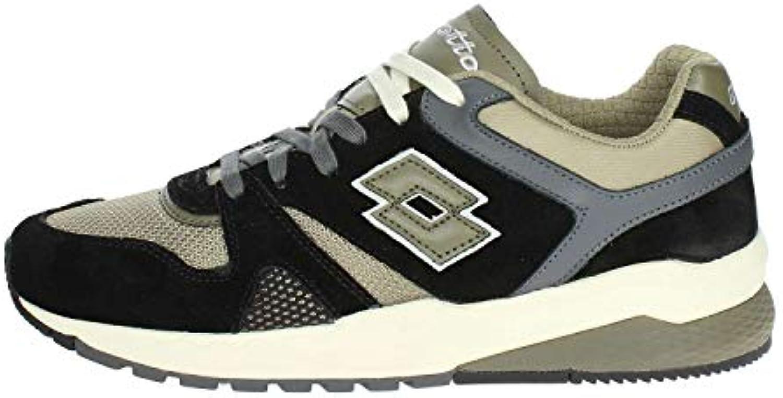 Lotto Marathon scarpe scarpe scarpe da ginnastica Nero verde Oliva T7385 (44 - Nero)   Abbiamo ricevuto lodi dai nostri clienti.  04f849