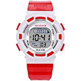 Clearance Sale! Waterproof Children Boys Digital LED Sports Watch Kids Alarm Date Watch Gift - B07H6VQ4BS