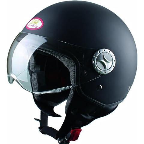 BHR 49810 Demi-Jet Casco, Color Negro Mate, Talla L, 59-60 cm