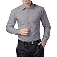 Paul Jones®Men's Shirt Business Casual Dress Shirt Cotton Large Grey-cl1044