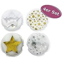 4er Set Taschenwärmer Sterne (tolles Wichtelgeschenk) Handwärmer, Taschenheizkissen
