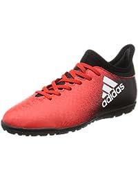 adidas X 16.3 TF J - Botas de fútbolpara niños, Rojo - (ROJO/FTWBLA/NEGBAS), 34