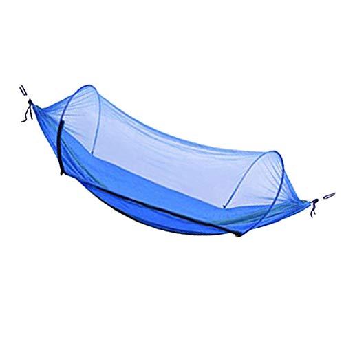 B Blesiya Ultraleichte Reise Camping Hängematte Outdoor Fallschirm mit Seile und Aufbewahrungstasche - Königsblau