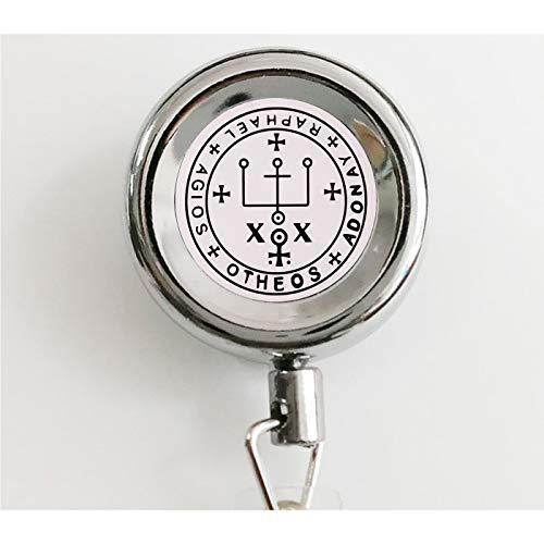 asd Erzengel Raphael Seal Anhänger It is God Who Hals Jewelry Trendy Herren Schmuck einziehbar Badge Rolle mit Wasserdichten Ausweishaltern & Schlüsselanhänger