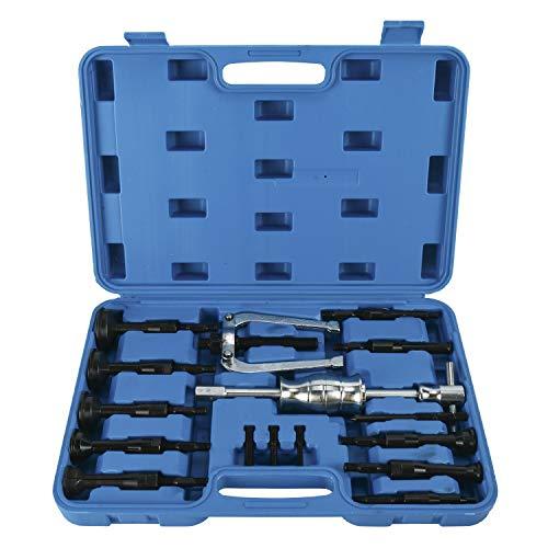 FreeTec, 16 Piezas,Extractor Interior Para Orificio Ciego, Conjunto de Extractores de Rodamientos, Con Martillo Deslizante