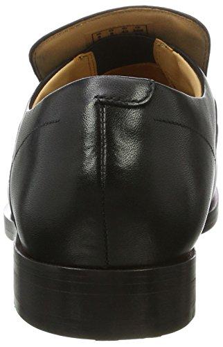 Clarks Herren Corfield Step Slipper Schwarz (Black Leather)