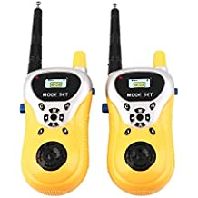 Popsugar Walkie Talkies for Kids, Yellow
