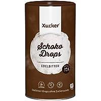 Xucker Schoko Drops Edelbitter 750g - Xucker Schokolade mit Xylit Zuckerersatz I Vegane Xucker Schokodrops I Zuckerreduzierte Süßigkeiten zum Backen (min. 75% Kakaoanteil)