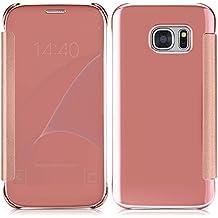 Funda Libro para Huawei G7 Plus / G8 / GX8 (5.5 pulgada) , Ycloud Flip Resin + Plastic Protecter Shell Cáscara protectora con función de espejo Cáscara protectora + 1x Lápiz óptico (Oro rosa)