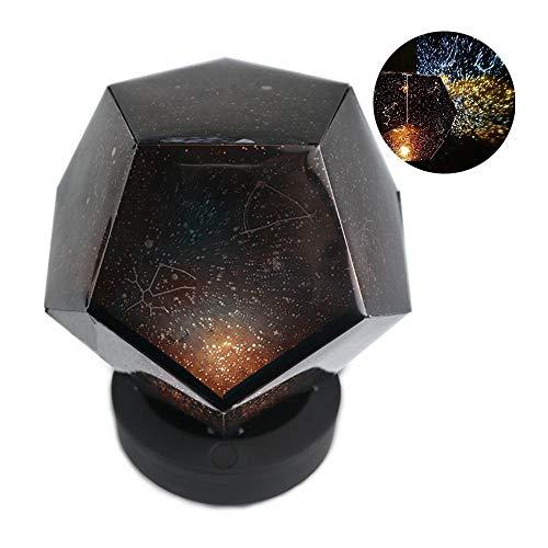 Pawaca Lampada di proiezione del Cielo Stellato USB Ricaricabile Scienza proiettore Romantico 3 Modi Constellation Galaxy Lampada per Adulti Bambini Decorazione Camera da Letto per Bambini