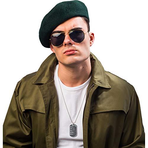Amakando Accessoires Spezialeinheit mit Mütze, Sonnenbrille & Halskette / Kostüm-Set Geheimagent / Bestens geeignet zu Fasching & Themenabend (Einheit Soldat Kostüm)