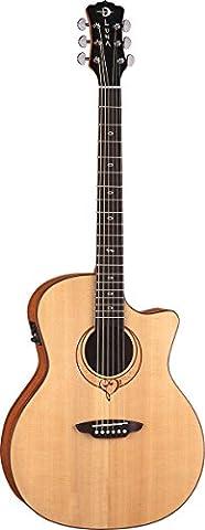 Luna Guitars SONG GC Satin Heartsong Grand Concert Acoustic Electric Guitar