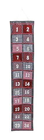 XXL Adventskalender zum Befüllen & Aufhängen aus Filz | Größe 34x166cm | Weihnachtskalender für Kinder & Erwachsene | Geschenk-Kalender mit Säckchen für Präsente & als Weihnachts-Deko (Dezember Kalender 2016 Weihnachten)