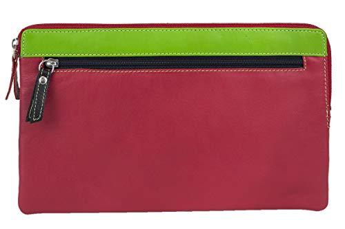 Tasca per soldi money bag formato orizzontale leas, vera pelle, multicolore - special-edition