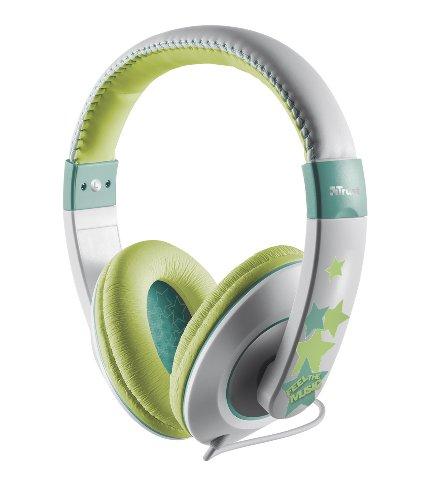 Trust Sonin Kopfhörer für Kinder grün/weiß