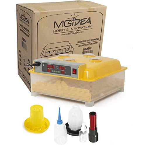 Incubatrice automatica sk48 professionale capacita' 48 uova di gallina, tacchina, faraona, anatra con girauova automatico, igrometro, termostato, display esterni e avvisatori acustici