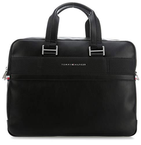 Tommy Hilfiger Herren TH Business Computer Bag Laptop Tasche, Schwarz (Black), 11x31x41 cm