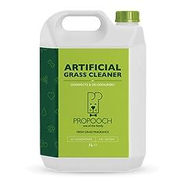 Limpiador de pasto artificial para perros (Súper Concentrado) | Desinfectante y Desodorizante | Botella [1 litro] fácil almacenamiento.
